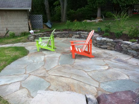 Natural Stone Patios Concrete Paver Clay Brick Permeable Patio Installation On Lakefront Outdoor Room Design Proper Sizing Of
